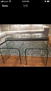 tempered glass tables - 1 coffee table