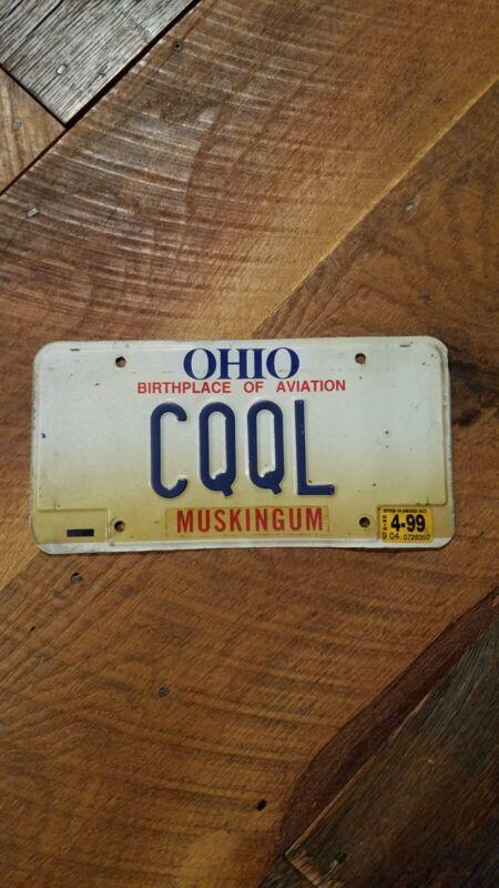 Ohio Vanity License Plate - CQQL