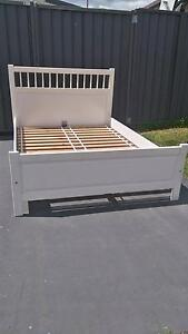 DOUBLE White Wooden BED frame St Marys Penrith Area Preview