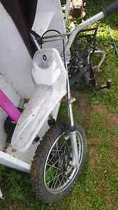 Motor bike frame tyre brakes front forks mufflers Denman Muswellbrook Area Preview