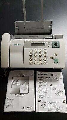 Sharp Ux-b20 Inkjet Fax Machine Lightly Used Needs New Cartridge