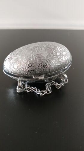 Antique Victorian Sewing Thimble Etui Holder Box Chatelaine Egg Shaped LOVELY!