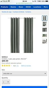 3 paires Rideaux/Curtains IKEA:les plus longs / the longest ones