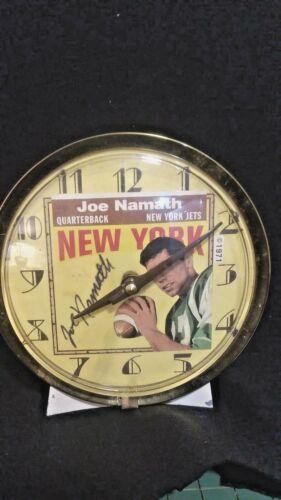 Joe Namath -  1971 Commemorative  Clock - Working order & Nice Condition - Rare