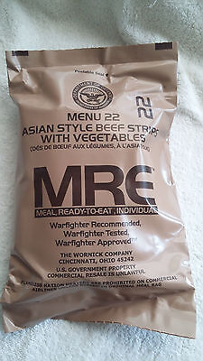 MRE U.S RATION PACK MENU 22,MILITARY, CAMPING, HIKING,FISHING,AIRSOFT,SURVIVAL