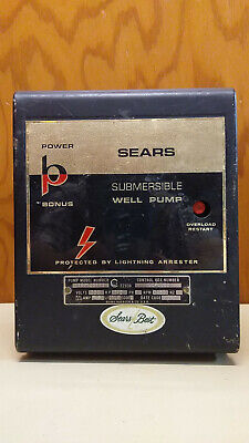 Sears Best Submersible Well Pump Control Box 230v