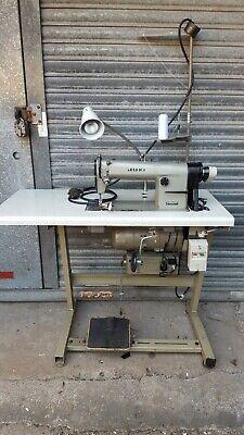 JUKI  DDL-555-4 INDUSTRIAL SEWING MACHINE-3 PHASE-EASTMAN- ELKA VARIO STOP MOTOR