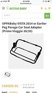 UPPABaby VISTA 2014 or Earlier Peg Perego Car Seat Adapter