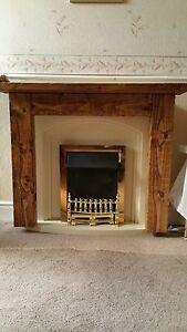 Hand Made Solid Wood Fire Surround Medium Oak Colour 120cm, by 105cm, 22cm deep