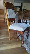 Antique Dining Chairs and reproduction table Salamander Bay Port Stephens Area Preview