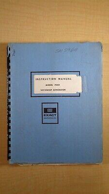 Exact Model 7060 Vcfsweep Generator Instruction Manual 4e B1