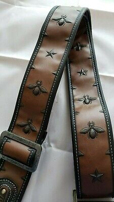 FAUX LEATHER BEETLE DESIGN Guitar Strap!!Very Cool & Tough!! FREE USA SHIPPING