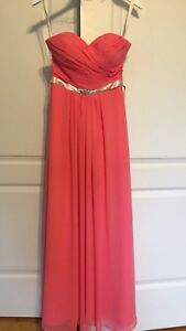 Coral Bridesmaid/Prom Dress