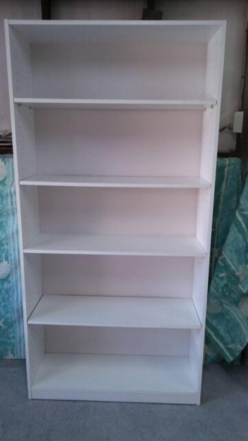 Shelving Unit White Melamine Bookcases Shelves