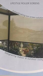 OUTDOOR CAFE ROLLER  BLINDS-**SHADEMESH OR PVC -CLEAR OR TINTED* Adelaide Region Preview