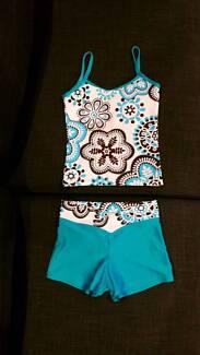 Girls Gymnastics Singlet & Shorts *Leotard/Crop