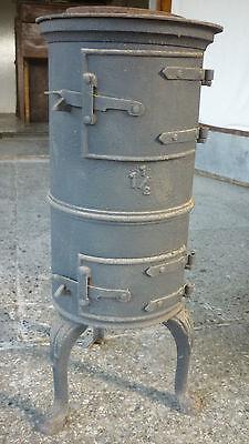 kleiner kanonenofen 55cm hoch ofen guss 1 1/2 tatzen alt antik shabby deko