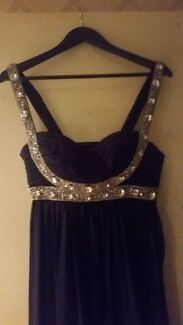 Worn once - dark purple floor length gown Gilles Plains Port Adelaide Area Preview