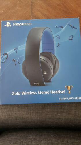 PlayStation Gold Wireless Stereo Headset - Jet Black