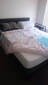 Black slat bed frame - EXCELLENT COND Murrumbeena Glen Eira Area Preview