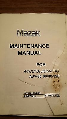 Mazak Ajv-35 Ajv-60 Ajv-80 Ajv-120 Maintenance Manual