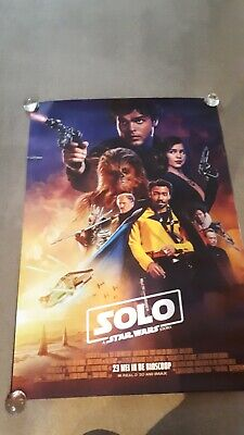 Star Wars Solo original one 1 sheet movie poster D/S