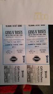 Gun's n roses tickets for sale Epsom Bendigo City Preview