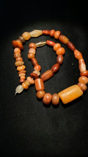 A beautiful collection of very old ancient Carnelian  beads