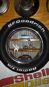CAR TYRE TIN TIMBER WALL SHELF MAN CAVE SHED COLLECTABLE Lyndoch Barossa Area Preview