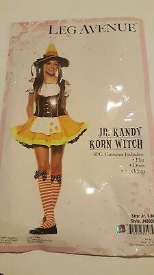Kandi Halloween Costume (Kandy Korn Witch Womens Halloween Costume sz Junior S/M Leg Avenue Dress and)