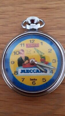 VINTAGE WIND UP MECCANO ADVERTISING POCKET WATCH GWO