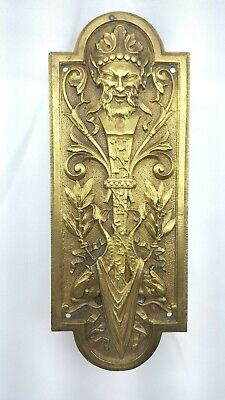 Antique Victorian ormolu gilt brass finger plate by William Tonks & Sons