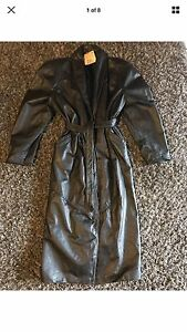 Leather long jacket ladies 10 NWT $1695 Hillville Greater Taree Area Preview