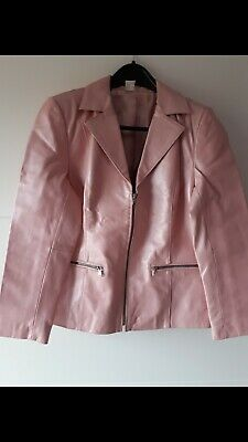 Damen  Lederjacke Gr. 40  rose  metallic . Rose Damen Leder