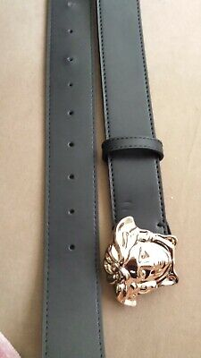 VERSACE leather belt gold buckle 20 - 36