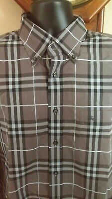BURBERRY LONDON Men Plaid Shirt Long Sleeve Size XL