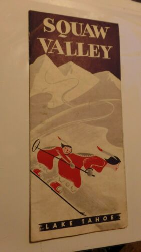 RARE Vintage Squaw Valley Lake Tahoe California CA Ski Skiing Pamphlet Brochure