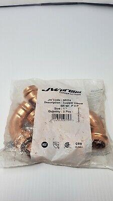 Jwpress Copper Elbow 1 Press 90 Elbow 5ct See Description