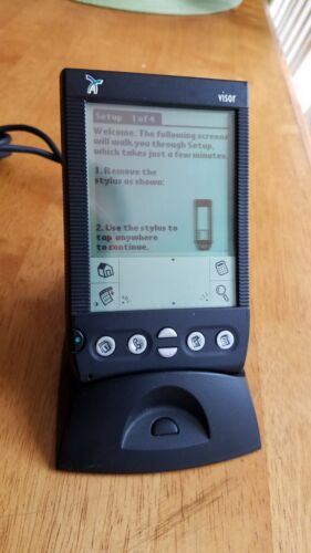 Handspring Visor Palm Pilot PDA With Dock, Stylus - Working