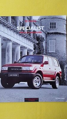 Toyota Previa & Landcruiser VX II car brochure sales catalogue SUPERB Cruiser