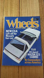 Wheels Magazine March 1987, Nissan Exa Holden VL Brock Lancia