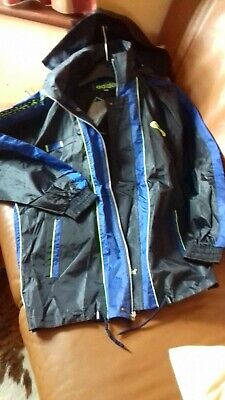 NEW Mens Adidas Windbreaker Hooded Fashion Blue Jacket 4XL