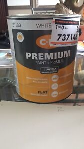 """Full can of CIL Flat """"Contemporary White"""" Paint"""