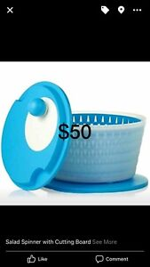 BRAND NEW Tupperware Salad Spinner with Cutting Board