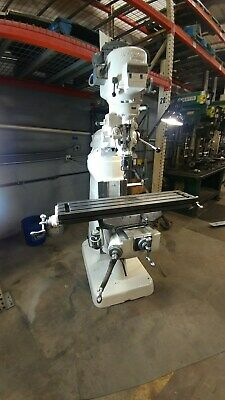Bridgeport Vertical Milling Machine 9 X 48 Table 2hp 230460v Good Cond