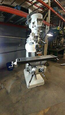Bridgeport Vertical Milling Machine 9 X 48 Table 2hp 230460v Good Cond
