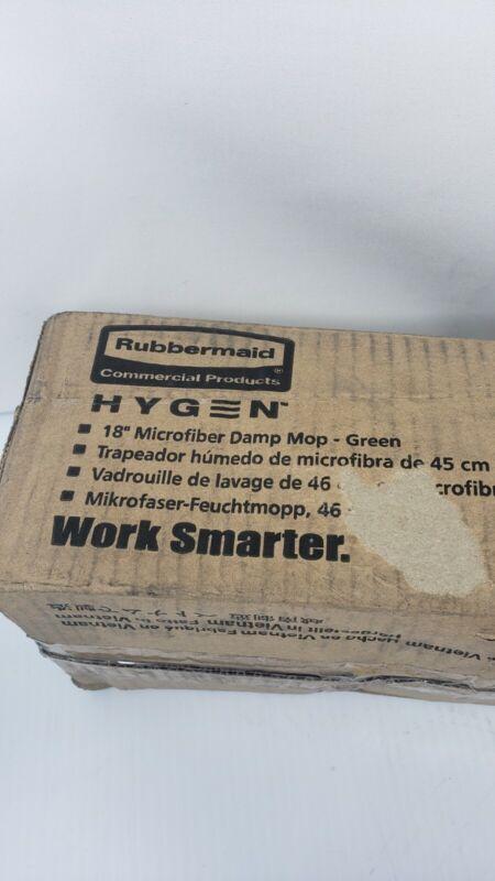 Lot of 4 Green Rim Rubbermaid Q410 HYGEN Microfiber Pads18X5 SEE DESCRIPTION