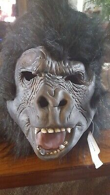 Gorilla Costumes For Adults (Gorilla Halloween Mask for adult costume party Realistic Ape Monkey)