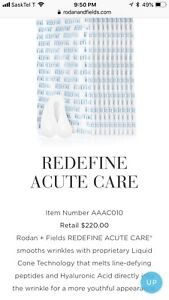 Rodan and fields Acute care skincare for expression lines
