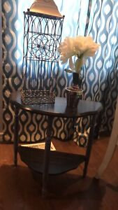 """Refinished antique entry table 23"""" height 23"""" by 11"""" length"""